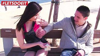 Beautiful Brunette PornStar Fucks Hard Amateur Guy - LETSDOEIT.COM