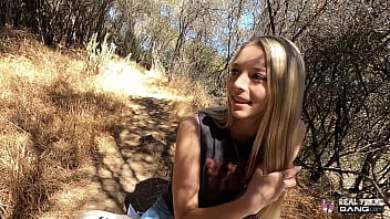 Real Teens - Sexy Blonde Teen Takes Dick In Public