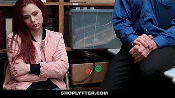 ShopLyfter - Pretty Face Redhead Teen (CassidyMichaels) Blackmailed To Fuck LP Officer