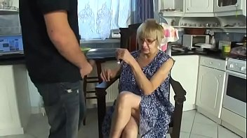 Sexy Katalin with natural tits gets hot fucking by young dude in the kitchen