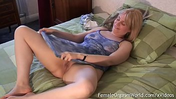 Watch Filmed never ending orgasms - Curvy blonde milfs pussy twitches from nipple stimulation before masturbating to multiple contracting orgasms preview