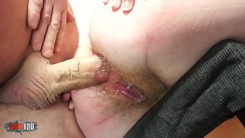 Horny and hot redhead ass fucked and creampied