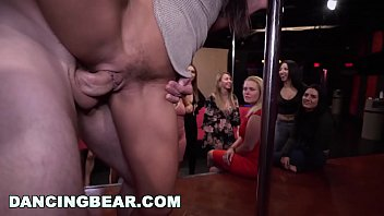 DANCINGBEAR - Group Of Horny Bitches Sucking Cocks At CFNM Party