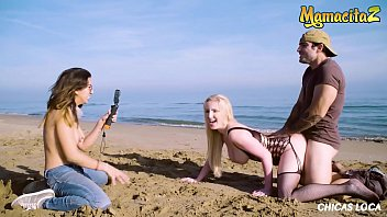 MAMACITAZ - (Frida Sante & Georgie Lyall) Latino Stud Miguel Zayas Bangs Outdoor By The Water With A Delicious Blondie Woman