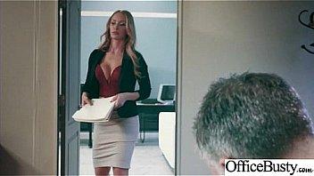 (Nicole Aniston) Sexy Big Tits Office Girl Love Hard Sex clip-26