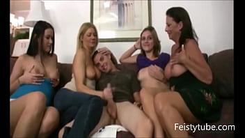 cfnm handjob orgy -Feistytube.com