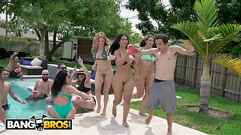 With milf party pool sexy the