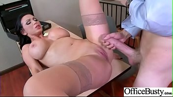 Big titts MILF fucked on the office's table
