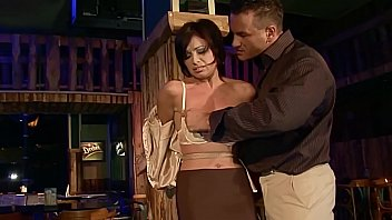 Cheating wife Szilvia Lauren, caught during flirting with the bartender,and now she gets cruel punish. Part 1.