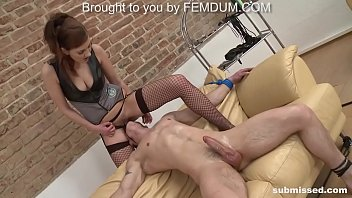 Mistress dominates and pegs young guy for the first time
