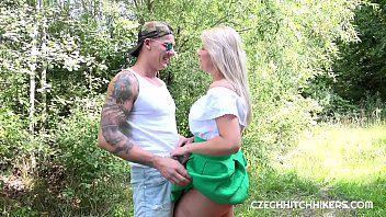Nikky Dream sucked and fucked in the woods