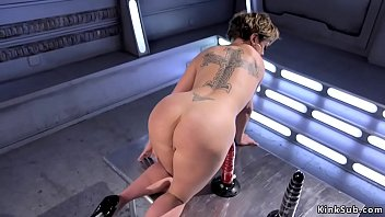 Watch Huge tits brunette Milf Dee Williams exposes her tattooed tight body then in shaved pussy shoves fucking machine and squirts during fuck preview