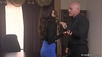 Derrick Pierce tied Gia DiMarco and fucked her mouth and whipped butt