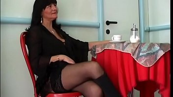 Slutty mature Ambra Dolci gets hardcore fuck by young stud