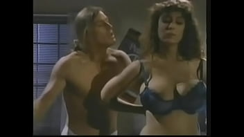 Her massive tits bounce while her pussy is getting penetrated deep by two large cocks