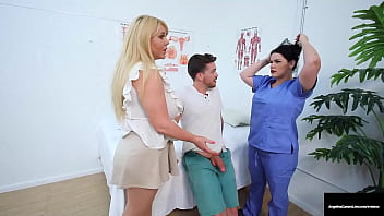 Buxom Health Care Hotties, Angelina Castro & Karen Fisher, make a hard cock patient feel all better by milking his sickly dick all over them! Full Video & Angelina Live @ AngelinaCastroLive.com!