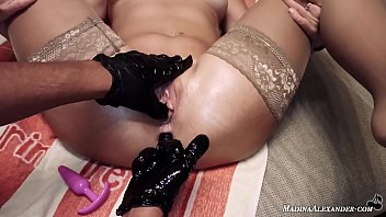Anal Masturbation Butt Plug and Fingering to Squirt