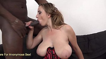 Breasted blonde Suzie ass fucked hard on couch