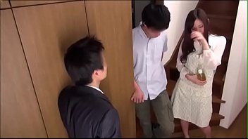 Japanese guy fucks girl while her bf watches