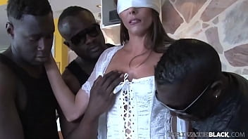 Celebrity's Wife & Super MILF Caroline Tosca stuffs her housewife pussy with 3 Big Black Cocks in a Pussy Plowing Interracial Gangbang! Full Flick At PrivateBlack.com!