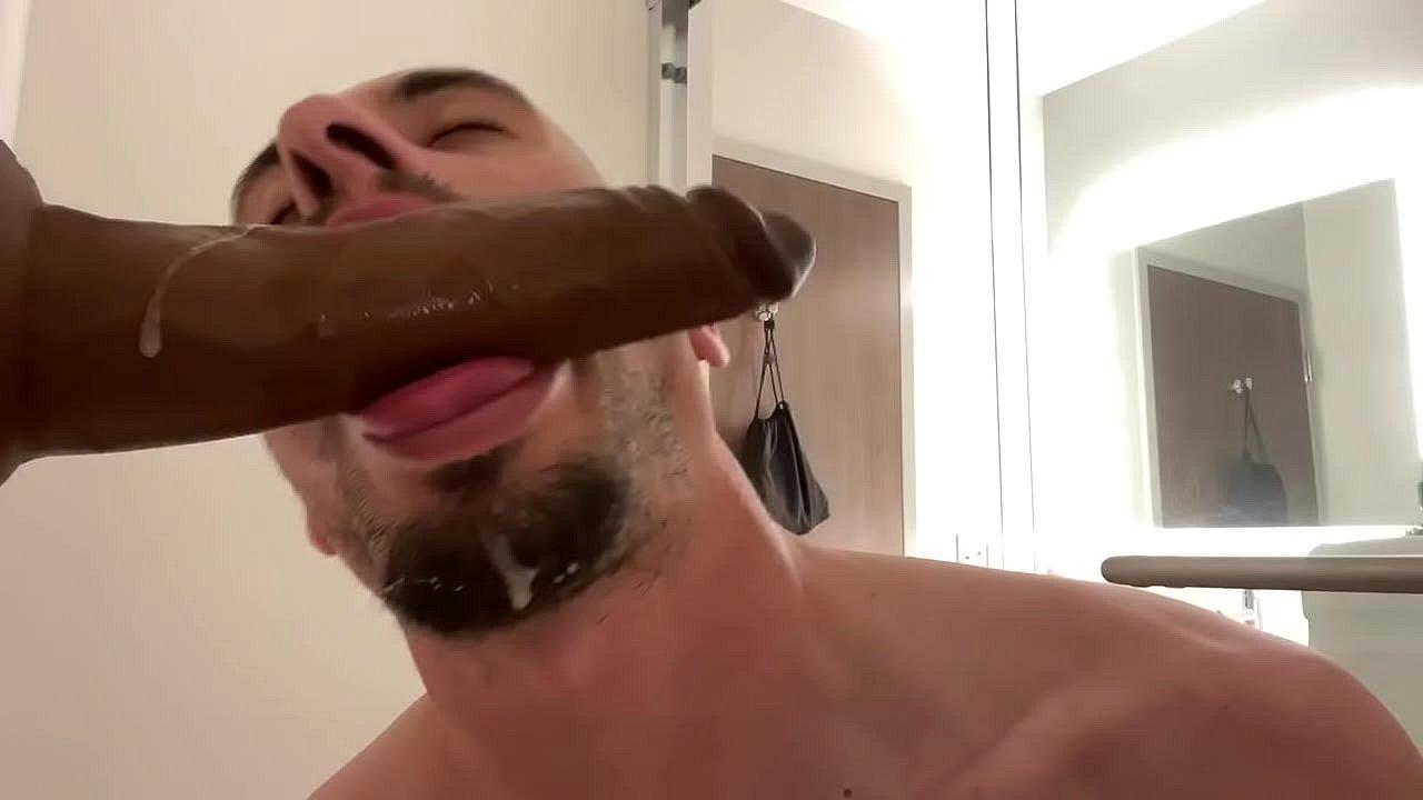 Dildo blowjob