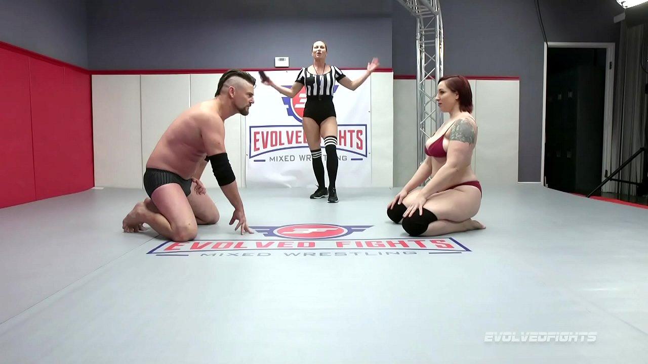 Mixed Oil Wrestling Big Tits