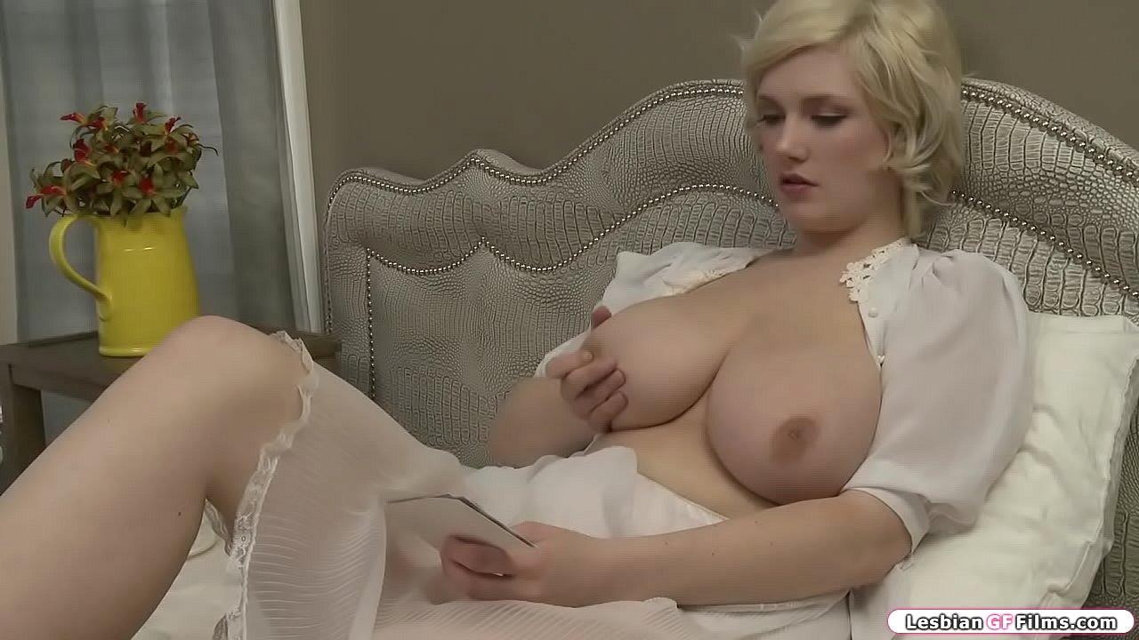 Pale Blonde Teen Masturbating