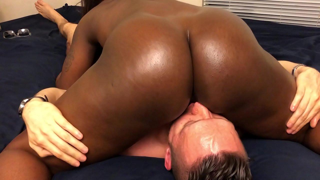 Dick Teasing Ebony Pussy