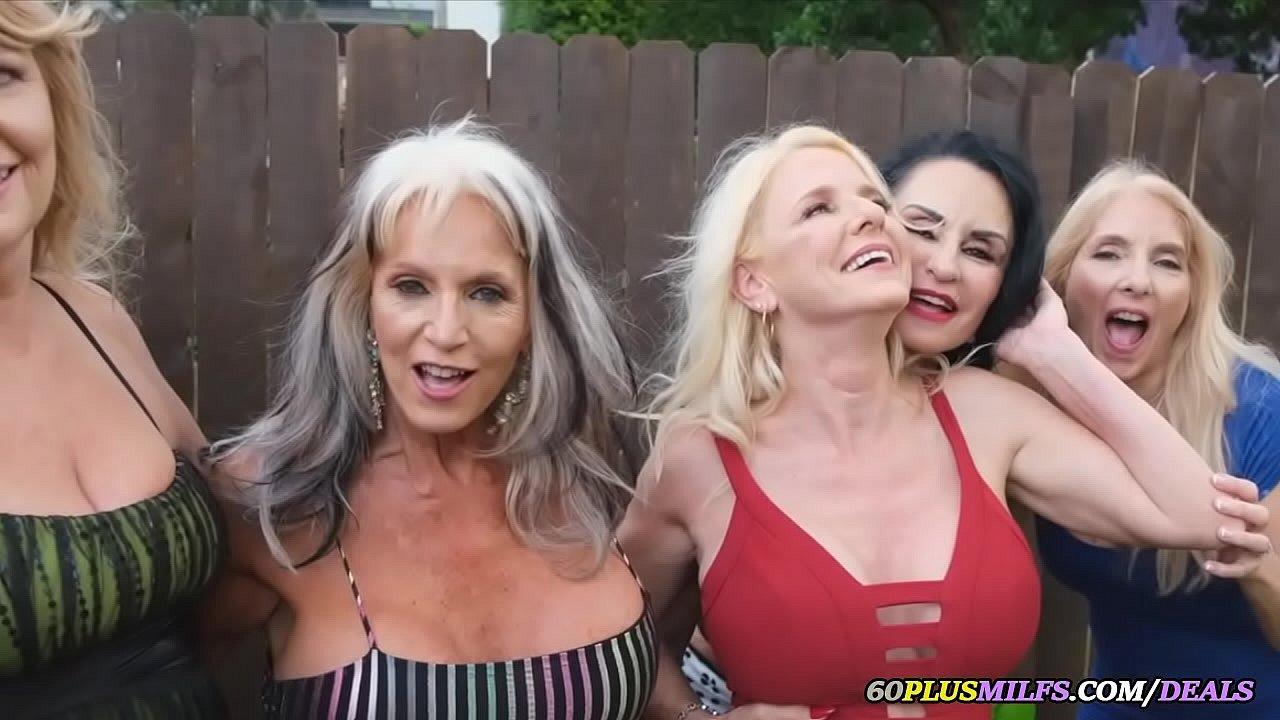 Granny S Interracial Cum Part