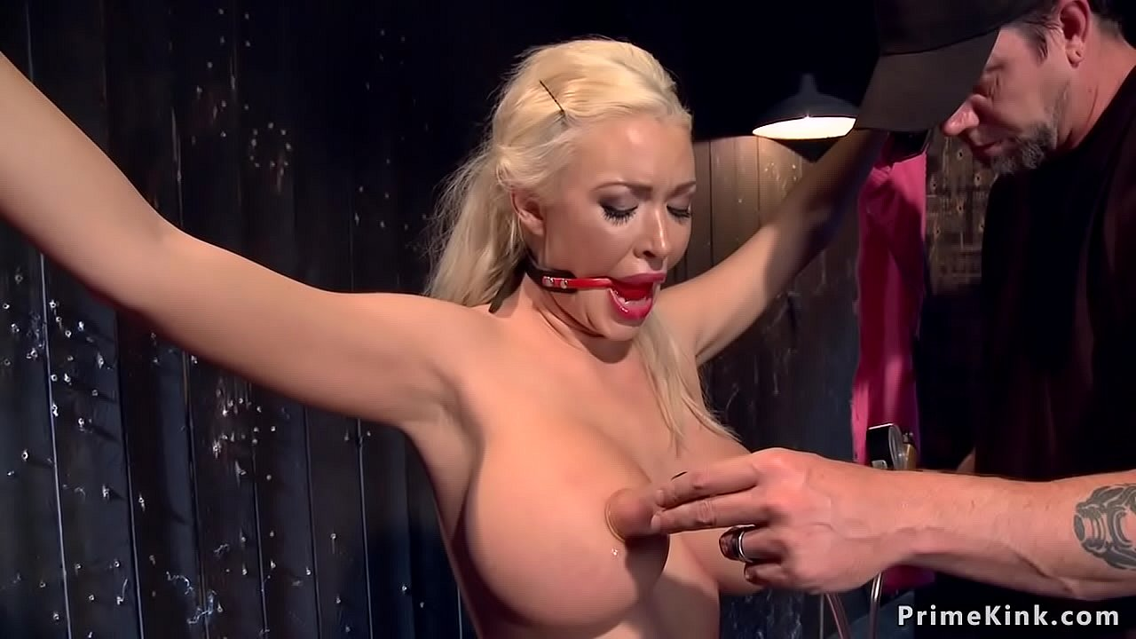 Blonde Big Tits Fishnet
