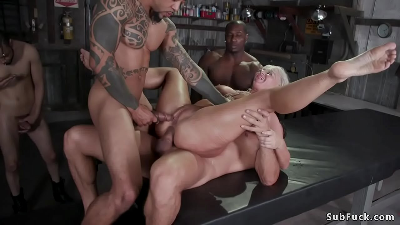 Big Tits Gangbang Outdoors
