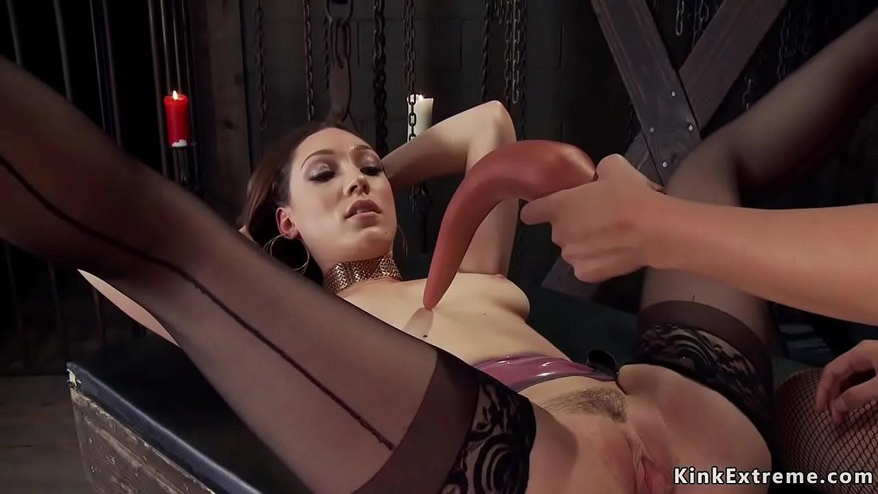 Lesbian Bondage Face Dildo