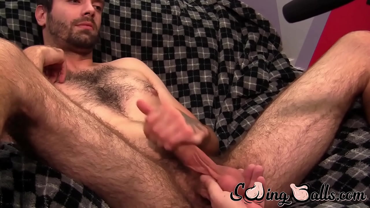 Big White Dick Jerking Off