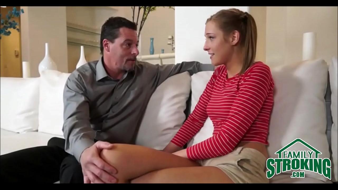 Step Dad Spanks Daughter