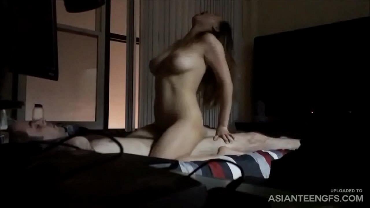 Asian Girlfriend Fucks White