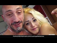 CASTING ALLA ITALIANA - Italian chick pussy licked and banged in audition