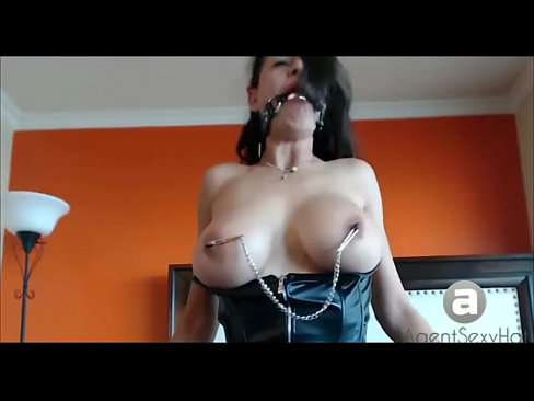 very grateful brunette slut masturbate cock and interracial remarkable, rather