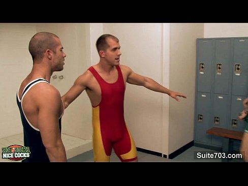 Jocks fuck in locker room