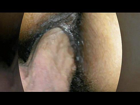 Girl pissing on hard cock