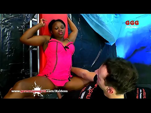 Black sexy girl Fortula gets her pretty face cum covered in a huge bukkake gangbang&excl