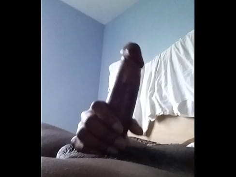 Cummin morning in dick masturbating black your place