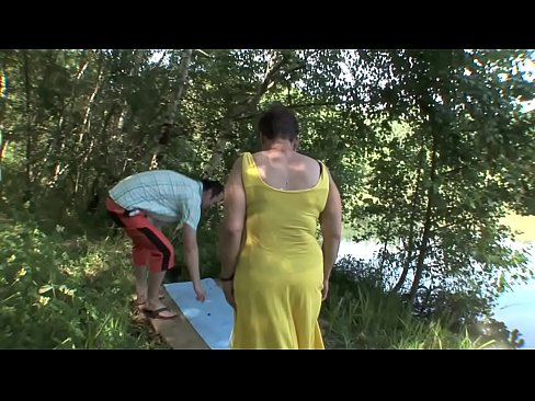 Horny couple banging outdoor
