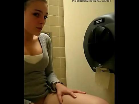 Amateur Babe Masturbating In Public Rest Room Amateursfukt Com