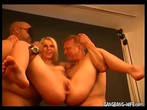 hot blonde milf swallows cum