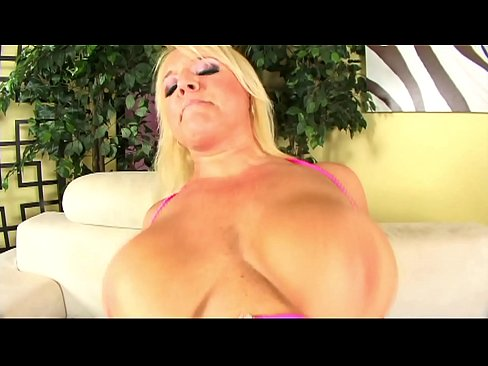 Hot mature blond does anal