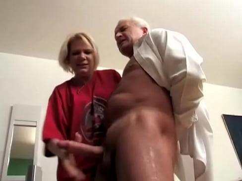 Old man suking boobs