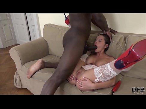 ass deep in Huge cock