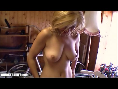 Pigtails fisting throat saggy tits