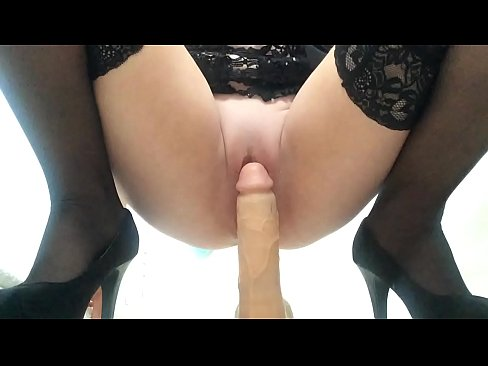 Very dildo creamy pussy riding suggest you