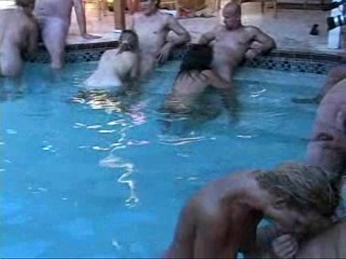 Swinger pool party videos